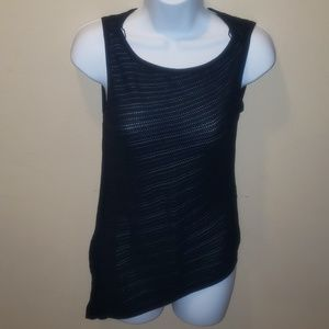 White House black market sweater tank asymmetrical
